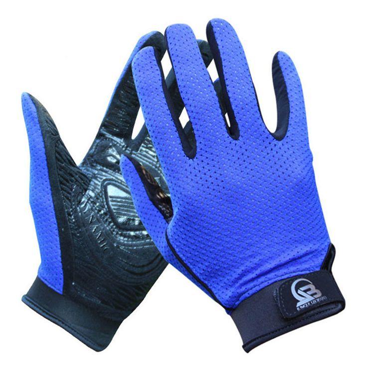 Breathable Summer Outdoor Full Finger Fitness,Hiking Glove for Men,Women