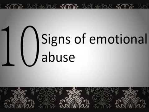 Variant Physical signs of emotional abuse in adults idea