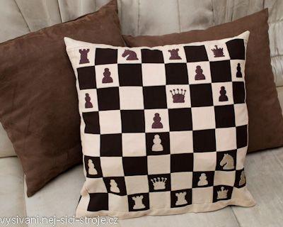 Šachy - polštář