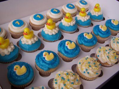 Once Upon a Cupcake - Custom Cupcakes from Orange County, CA - Wedding / Large Event cupcakes: Rubber Ducky Cupcakes