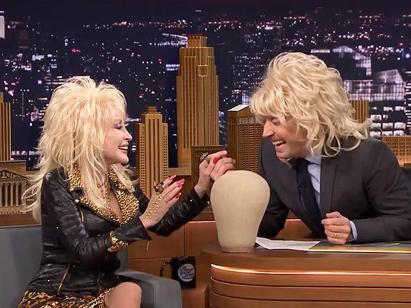 Jimmy Fallon Dons Dolly Parton's Wig on The Tonight Show