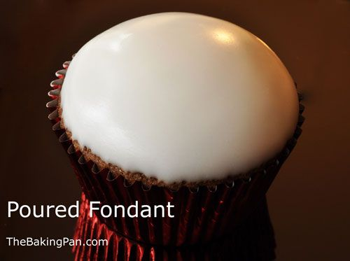 pourable fondant using simple sugar syrup & premade or commercial fondant