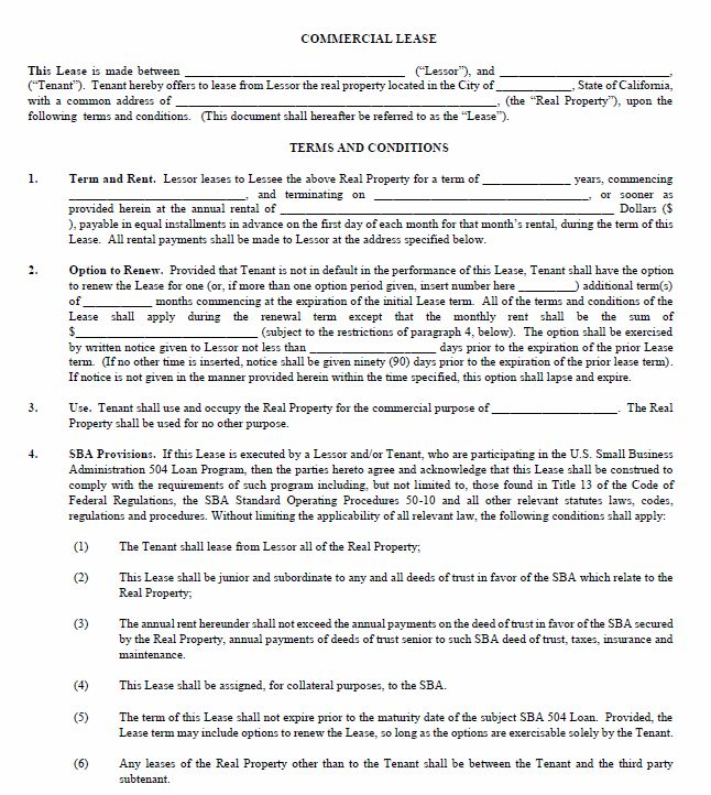 Commercial Lease Termination Agreement OhCommercialLease Free – Sample Commercial Lease Agreement Template