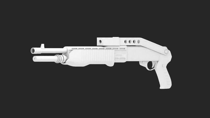 Blender 3D | Franchi Spas-12 Modeling Timelapse