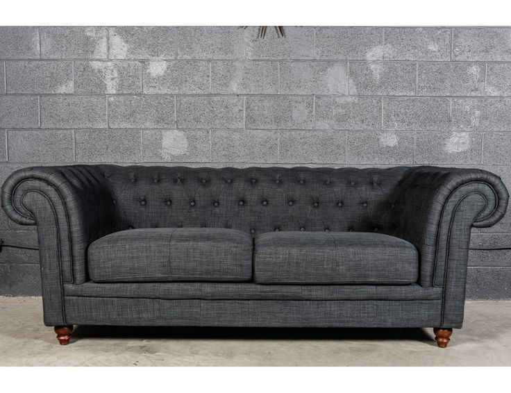 Collin Fabric Chesterfield Sofa: Midcentury Classic Couch – Wazo Furniture