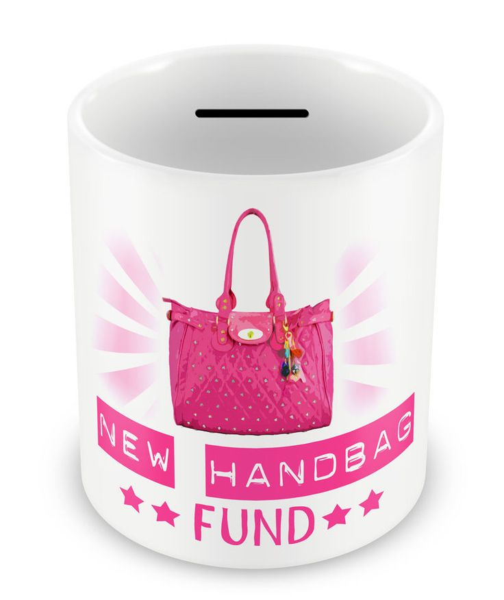 New Handbag Fund Money Box Piggy Bank S Coins Pot Gift Idea Ie 69