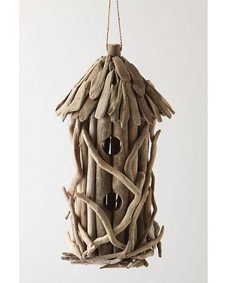 This intricate birdhouse will surely have the birds chirping! Get it here: http://www.bhg.com/shop/anthropologie-driftwood-birdhouse-p5023a11d82a797dc8954d9d0.html?mz=a