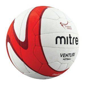 Official England Netball match ball: Mitre Venturi Professional England Netball White Size 5