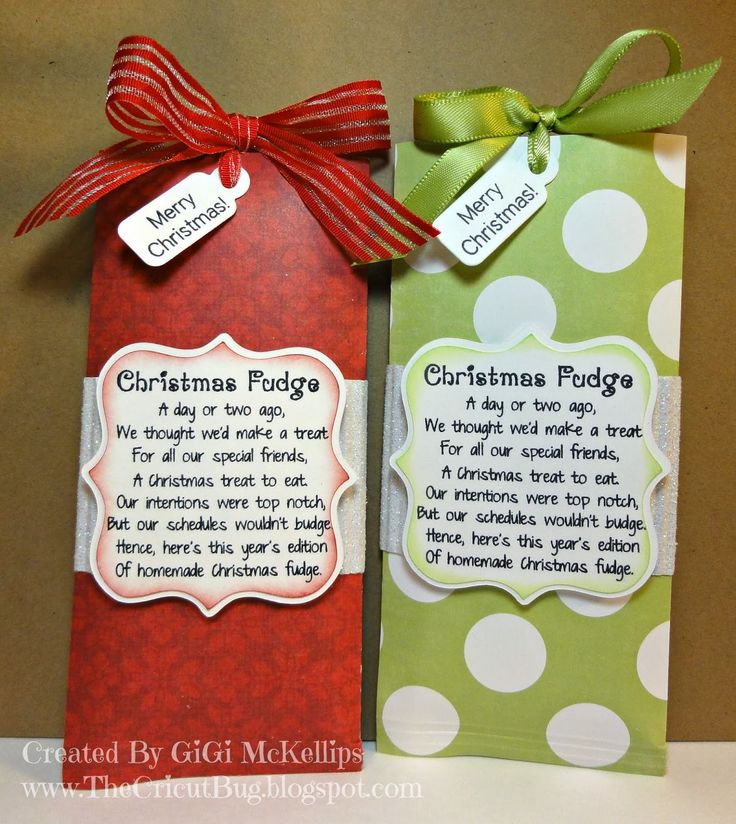 christmas crafts with candy bars | made these Candy Bar Sliders with a fun poem on them.