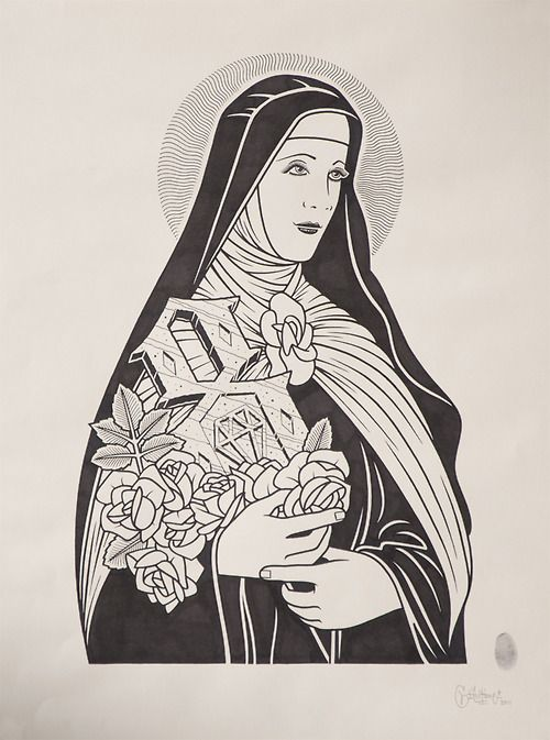 St Theresa by Mike Giant, 2011.