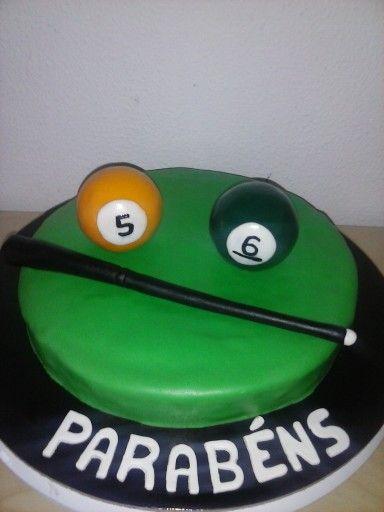 A cake for a snooker fan