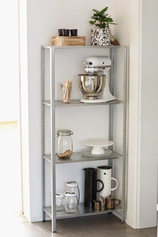 IKEA Hyllis is a cool shelving unit that can be used in many modern spaces, indoors and outdoors. It must be fastened to the wall, and the back panel has predrilled holes to make it easier. The included plastic feet protect the floor against scratching. Actually, you can use it everywhere: in a kids' room,...