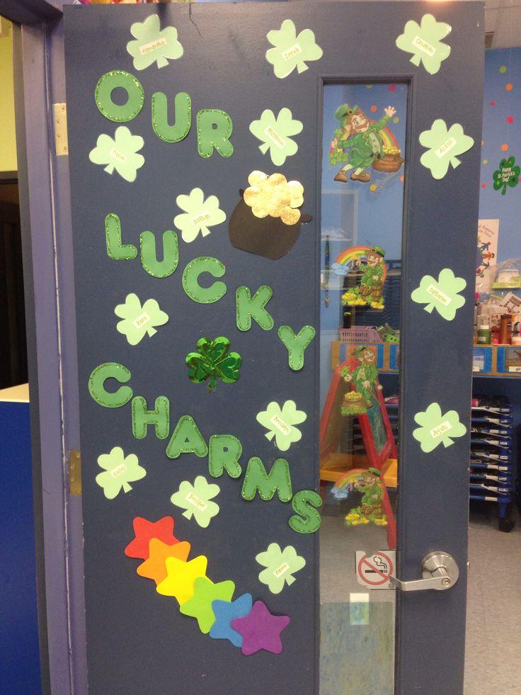 St. Patrick's day classroom door