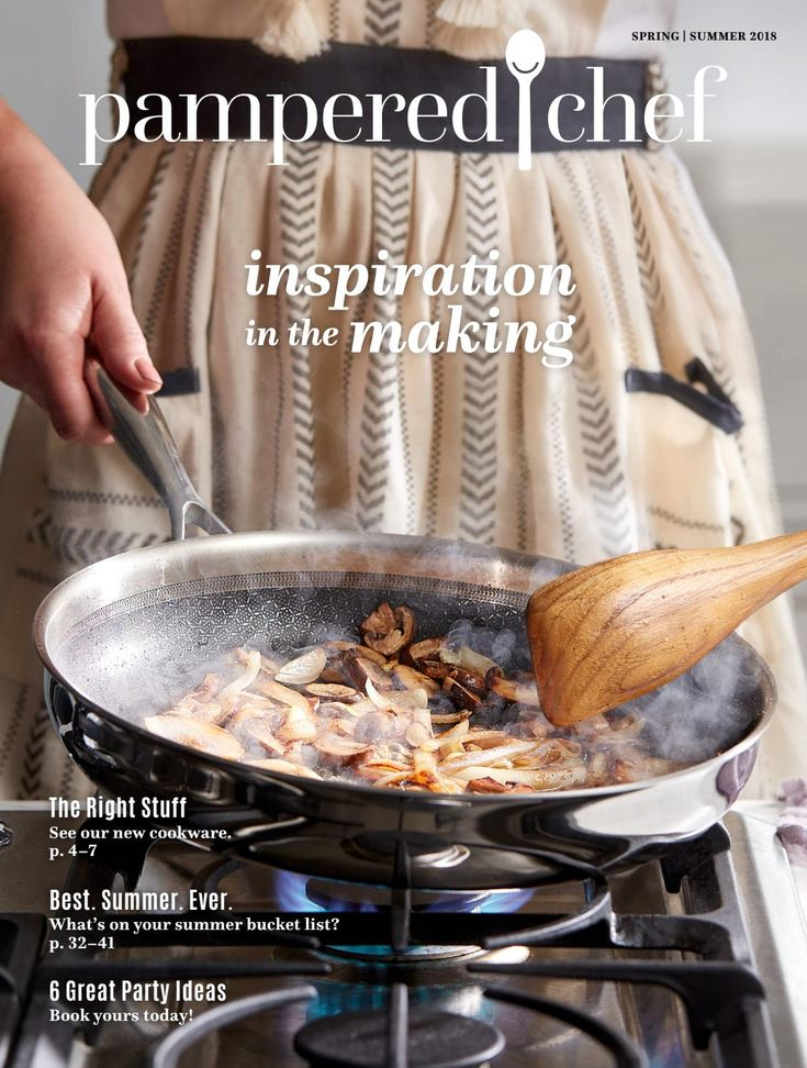The NEW Spring/Summer 2018 Pampered Chef catalog is out today! There are several great new items in the new line! Take a peek and see for yourself! www.pamperedchef.biz/elainemeyer