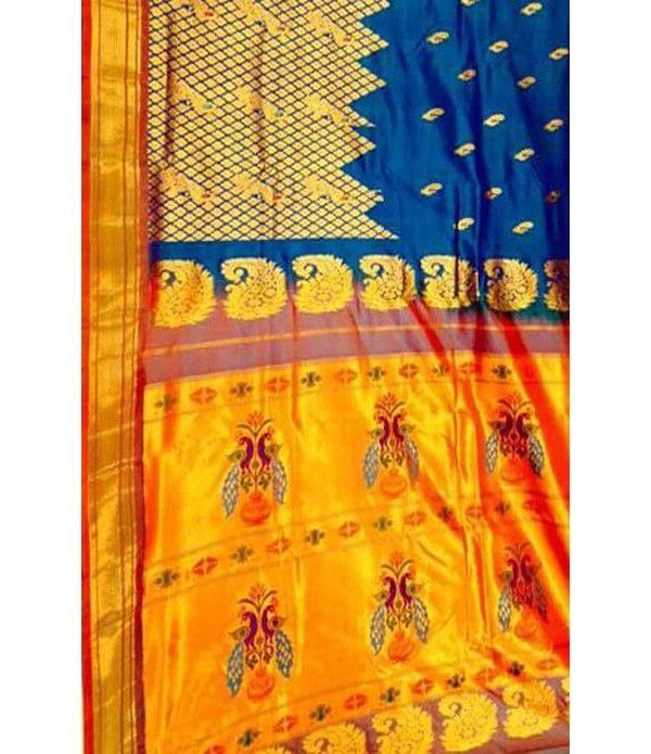 Multicolor Handloom Paithani Pure Silk Saree