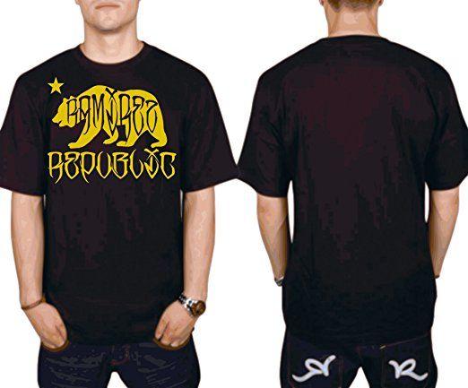 € 15.99  Herren T Shirt Republic Aufdruck Ramirez Wear Original Kurzarm mit Motiv (XL, Schwarz)