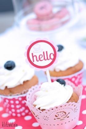 Blueberrie-Cupcakes mit fluffiger Vanillebuttercreme *
