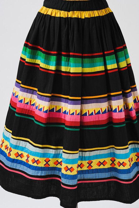 Miccosukee/Seminole patchwork skirt.