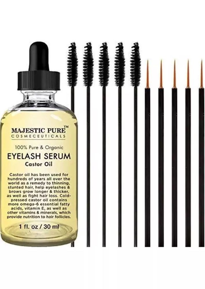Majestic Pure Castor Oil for Eyelashes Organic Growth Serum  | eBay