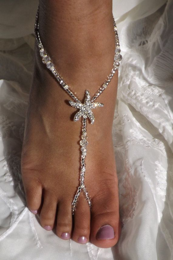 Bottomless Foot Jewelry Beach Weedding Bride by SubtleExpressions