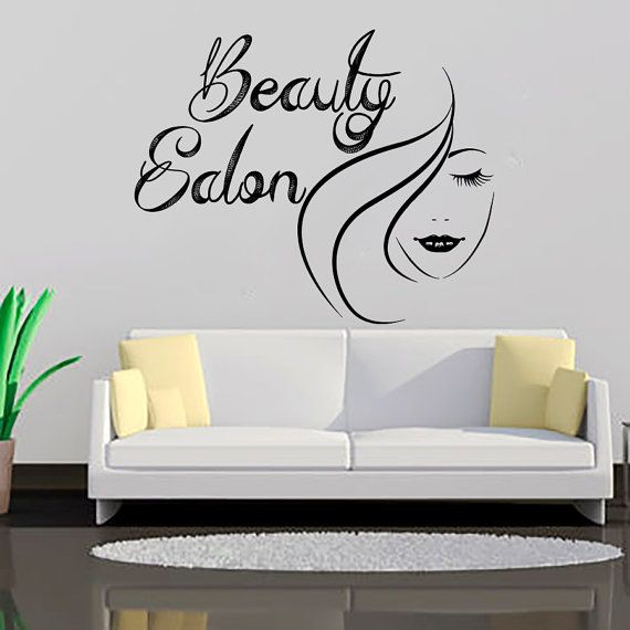 Best Beauty Salon Images On Pinterest Beauty Salons Wall - Custom vinyl wall decals for hair salonvinyl wall decal hair salon stylist hairdresser barber shop