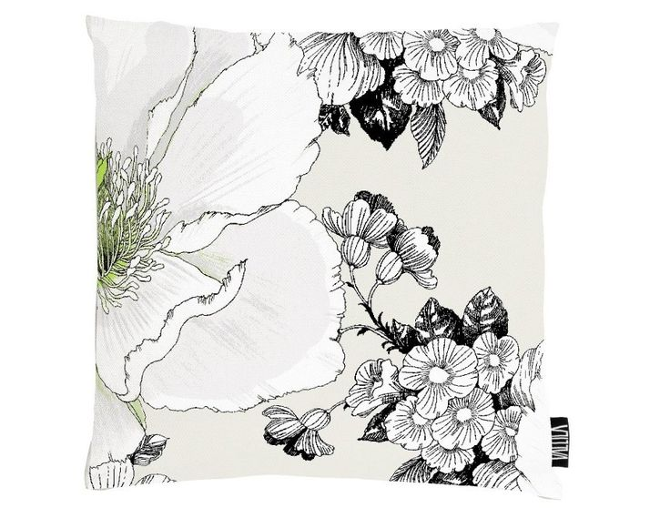 Amanda Green Cushion Cover - A lovely large scaled floral design from Helsinki of Vallila Interiors available exclusively in New Zealand at Harvey Furnishings.