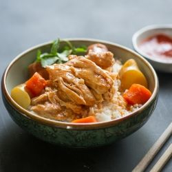 Slow Cooker Asian Ginger Chicken Stew by chickenrecipebox #Chicken Asian #Slow_Cooker