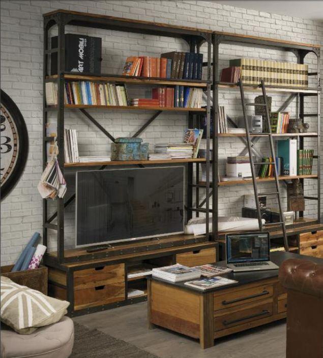 Industrial e vintage libreria porta tv scala paoletti for Industria mobili