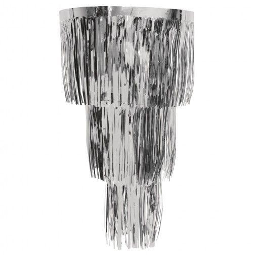 lametta deko kronleuchter silber silvester new year 2016 pinterest weihnachten. Black Bedroom Furniture Sets. Home Design Ideas