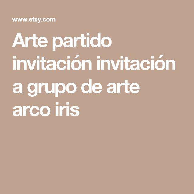 Arte partido invitación invitación a grupo de arte arco iris