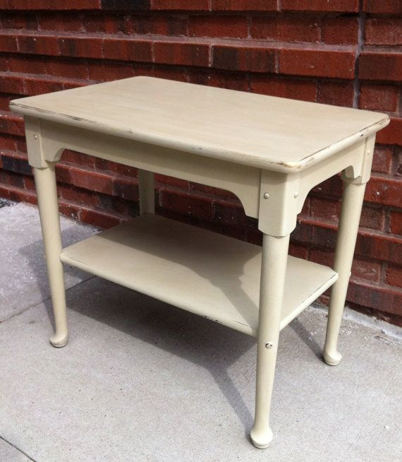 RESERVED FOR BETTY Side Table In Country Grey Annie Sloan