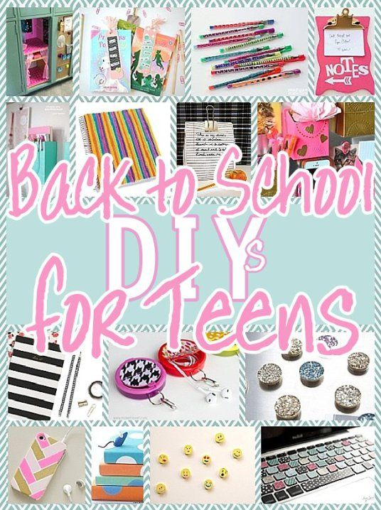 DIY Back to School Projects for Teens and Tweens - Locker Decoration Ideas - Customized School Supplies and Organizers - accessories and more for the do it yourself TEENs or TWEENs