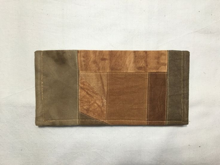 persimmon dyeing wallet (Basic) by sanchaeg on Etsy