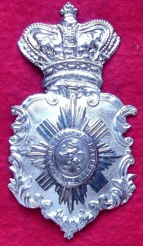 Victorian Glasgow Yeomanry helmet plate  function picOnLoad(isSetClkId){  var elem = document.getElementById('icThrImg');   var pic = document.getElementById('icImg');   elem.sty