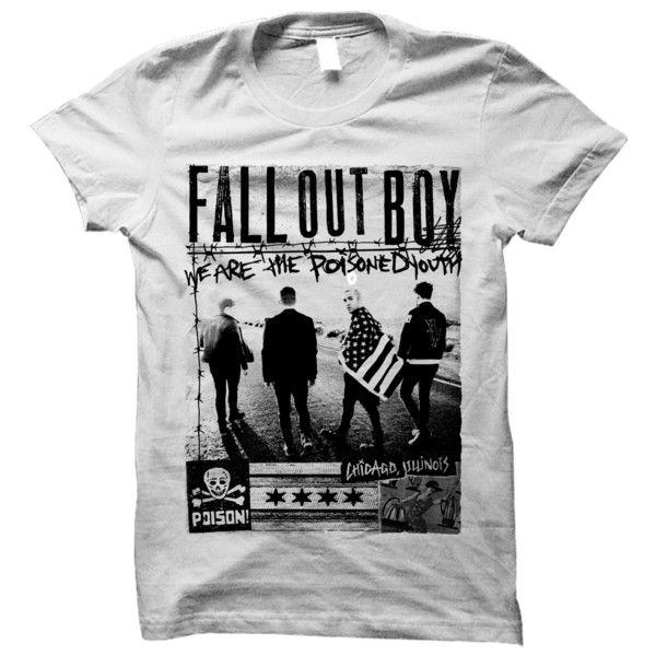 Band Photo Poisoned Youth Tee ($25) ❤ liked on Polyvore featuring tops, shirts, band shirts and shirts/tops