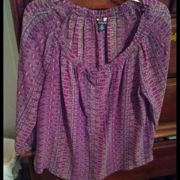 *sale* Purple shirt Beautiful purple shirt, lived it but doesn't fit anymore :( American Eagle Outfitters Tops Blouses