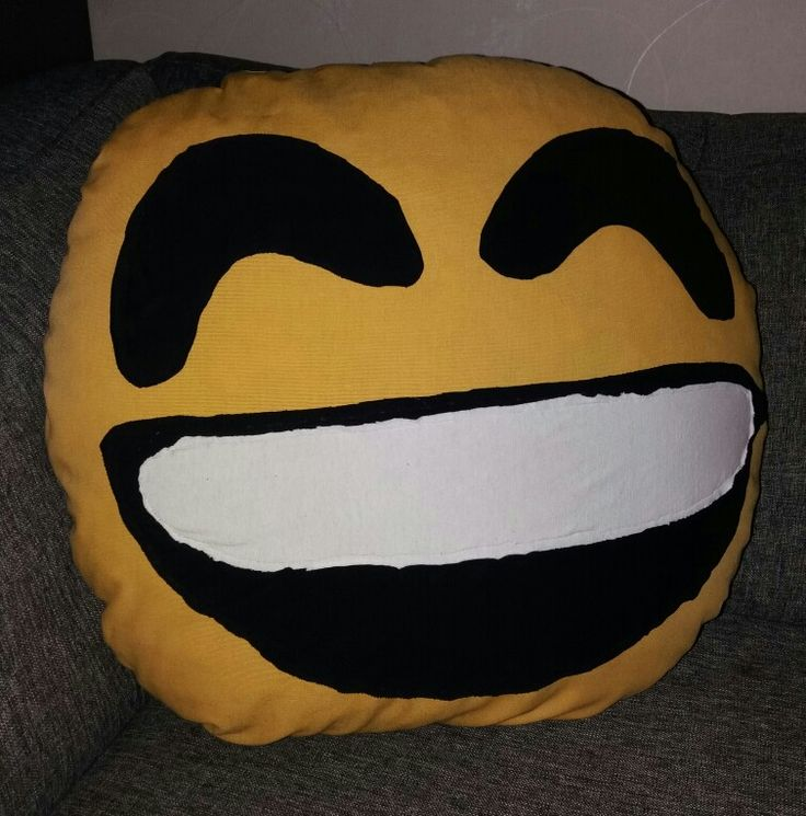 Big emoji pillow