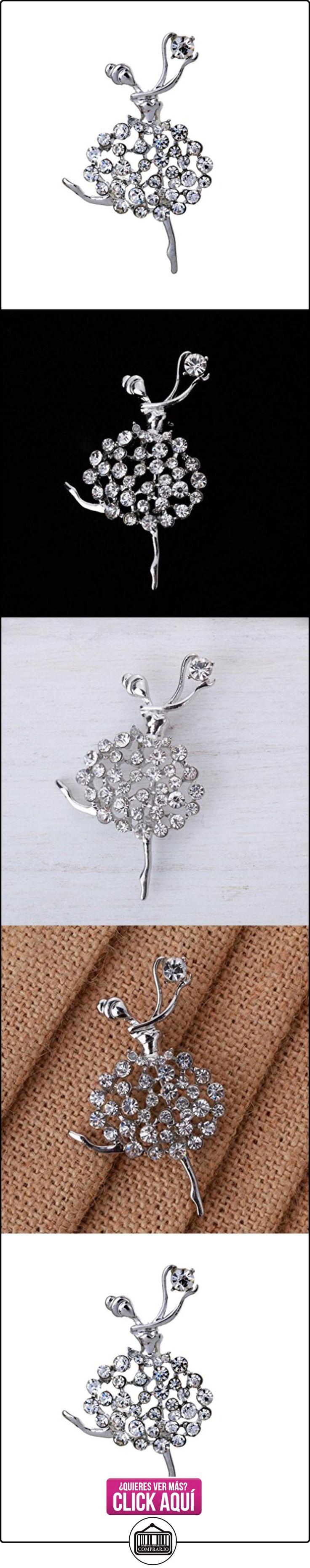 Yazilind mujeres joyer¨ªa de lujo del hueco del Rhinestone Ballet regalo Pin Broche de plata Jewerly  ✿ Joyas para mujer - Las mejores ofertas ✿ ▬► Ver oferta: https://comprar.io/goto/B00WQNPQVM