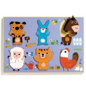 puzzle en bois des animaux