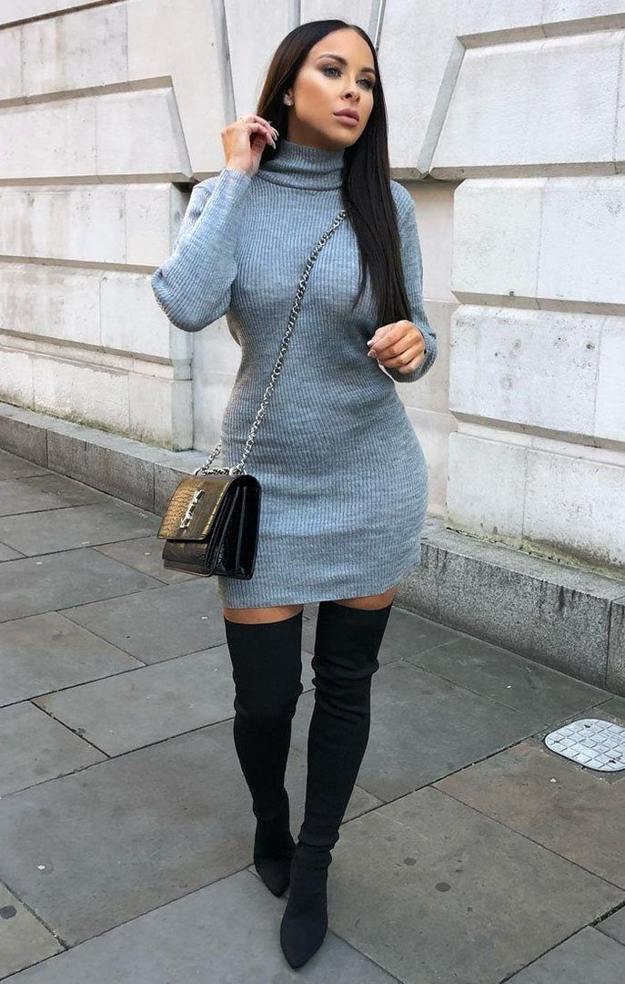 jumper dress outfit