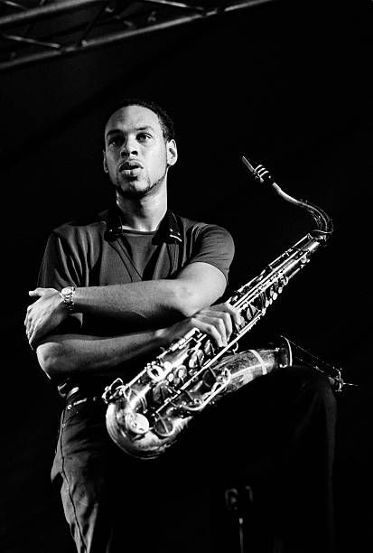 Joshua Redman, tenor saxophone, performs on July 12th 1997at the North Sea Jazz Festival in the Hague, the Netherlands.