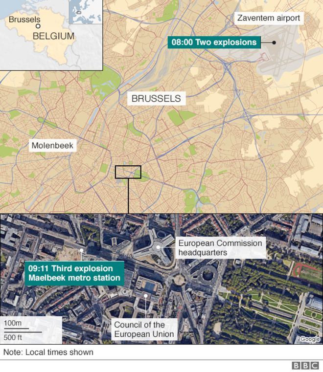 Brussels explosions What we know (With images) Metro