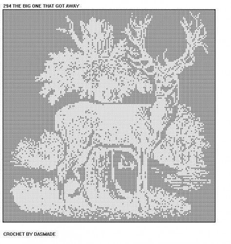 The big  one that got away Deer Filet Crochet Pattern  294 | CROCHETBYDASMADE - Patterns on ArtFire