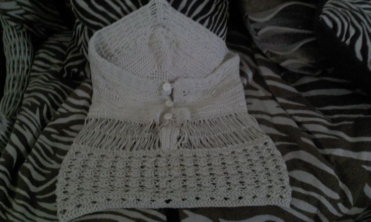crochet back blouse