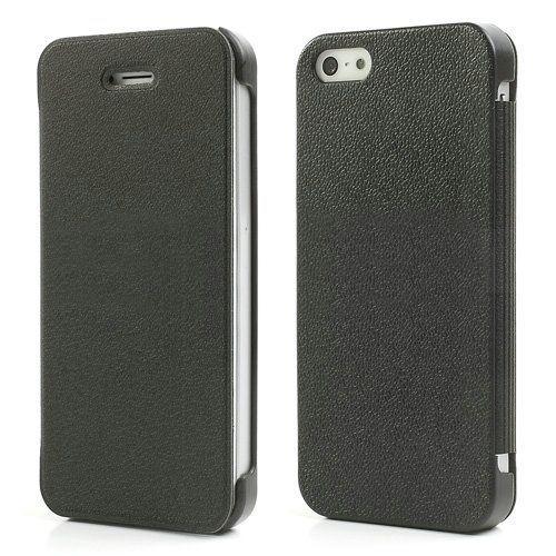 Mcover Zwart compact flip cover hoesje voor iPhone 5 / 5s