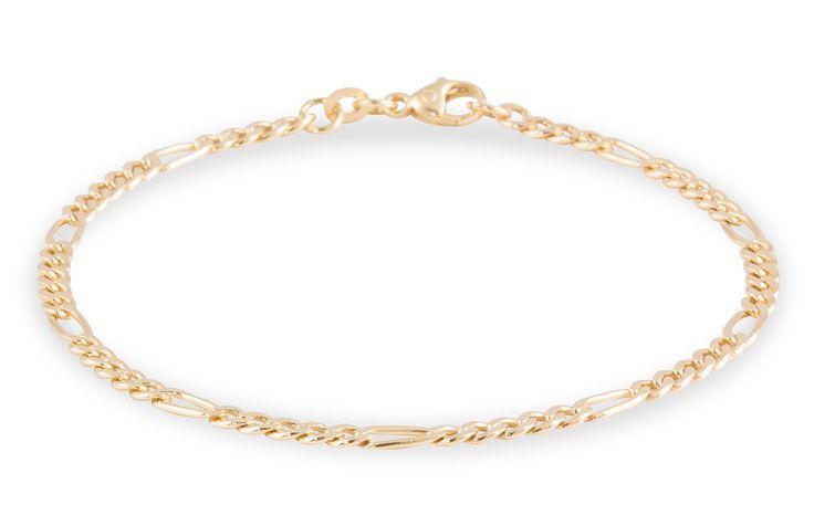 Glow Gouden Armband Figaro 2.9 mm 19 cm 204.2000.19. Prachtig 14 karaats gouden Armband met een Figaroschakel van 2.9 mm uit de Gold Collection. Deze kwalitatief hoogwaardige armband heeft een subtiele karabijnsluiting en een lengte van 18.5 cm. Tevens verkrijgbaar in 3.5 mm en 4.5 mm. https://www.timefortrends.nl/sieraden/gouden-sieraden/gold-collection.html?___SID=U