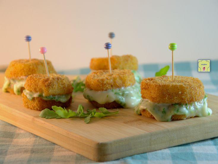 Sandwich di patate stracchino e rucola