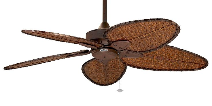 The Islander ceiling fan is one of Fanimation's classic designs that have withstood the test of time. For over thirty years, the natural elegance and versatility of this tropically inspired ceiling fan have contributed to its undiminished popularity. Picture here in Rust with Narrow All Weather Bamboo Blades.