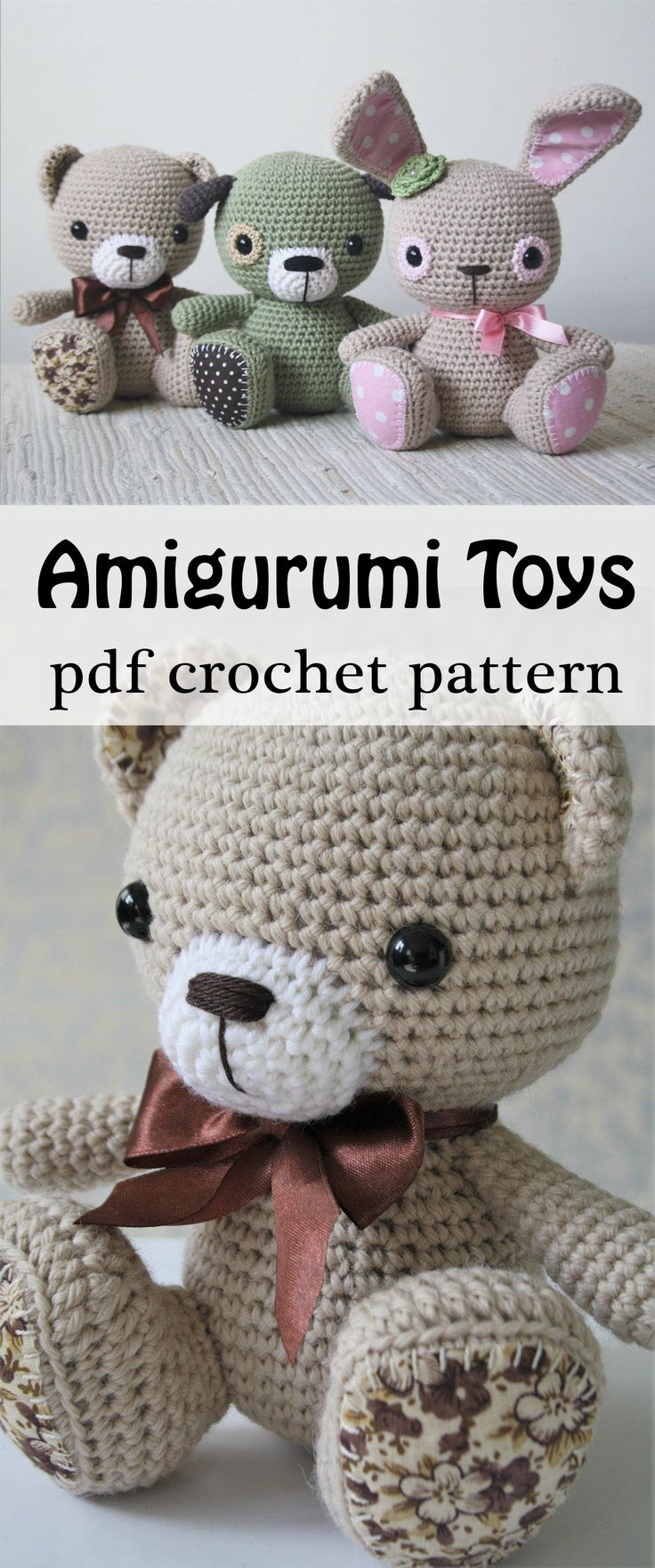 How adorable are these little crochet toys! I think amigurumi toys make a super cute and original baby shower gift because they are unique and handmade. And you can totally just choose the colors whether you're making it for a boy or girl. I love it! This PDF pattern should be quite easy to follow, perfect for a beginner like me lol! #crochet #amigurumi #toys #bunny #rabbit #babyshower #gift #etsy #ad