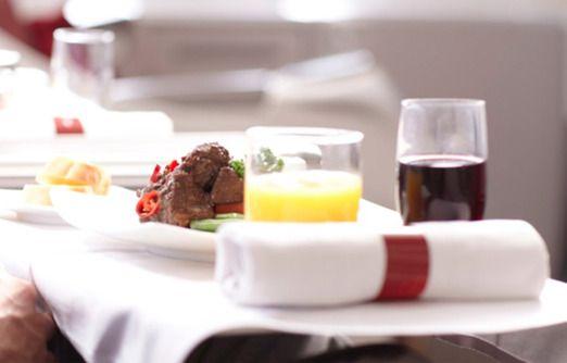 Garuda Indonesia inflight meal. Photo courtesy of Garuda Indonesia.